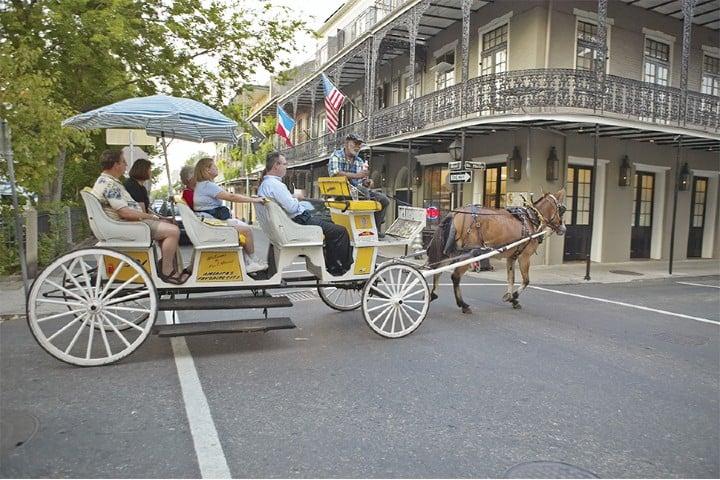Carruaje por la Ciudad de Nueva Orleans Foto: Archivo