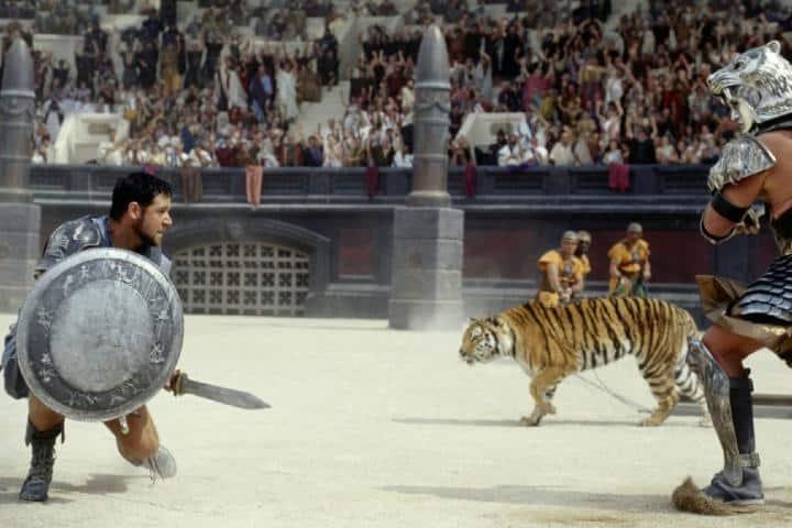 """Escena de la película """"Gladiador"""". Foto: Archivo."""