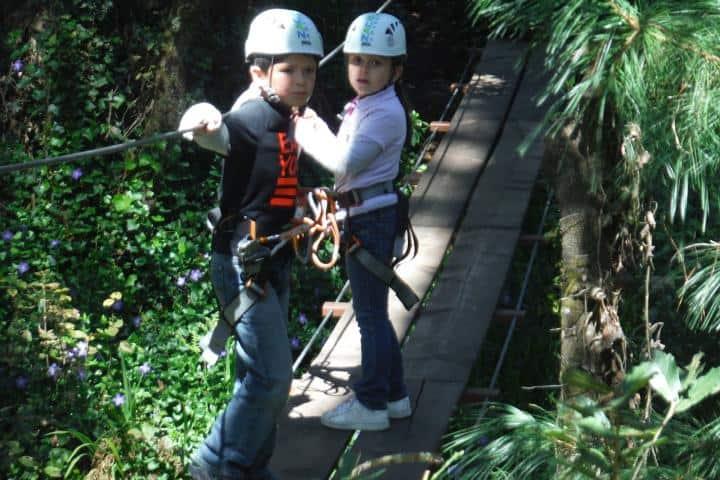 Puente Colgante para niños Foto: Zacatlán Adventure