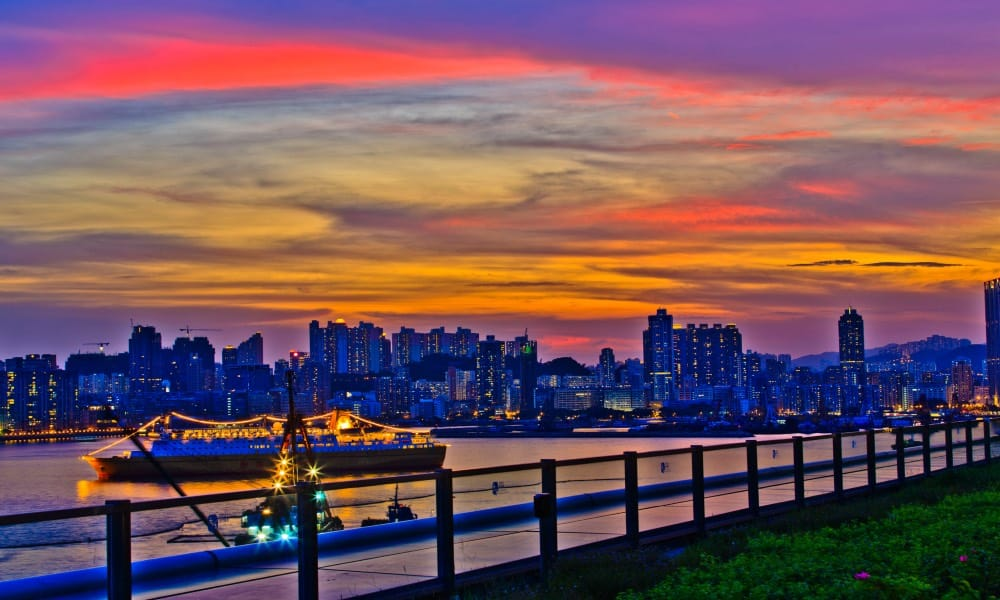 Puertos de Hong Kong Foto Brian Tang
