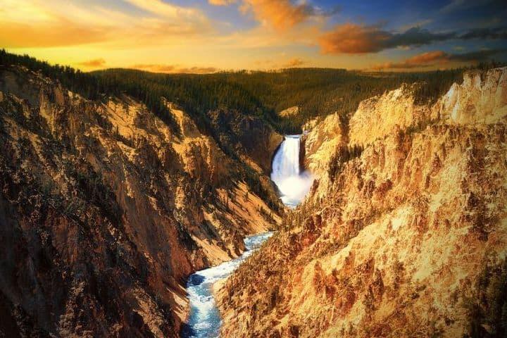 Que vista tan increíble de las Cataratas de Yellowstone. Foto: Archivo.