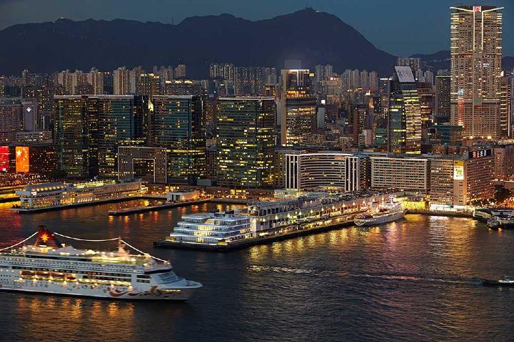 Terminal Océano Hong Kong, uno de los puertos de Hong Kong Foto: Peter von Stamm