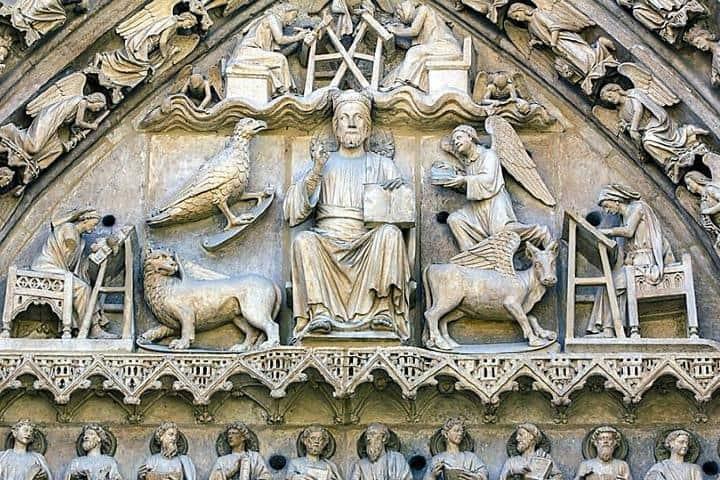 Tetramorfos Foto: glosario ilustrado de arte arquitectónico