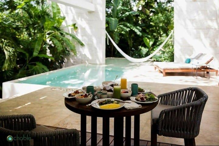 Un merecido descanso desde tu terraza Foto: Chablé Resort & Spa | Facebook