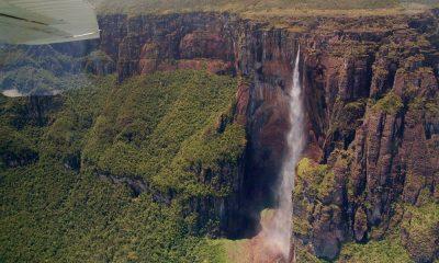 Vista aérea de Salto Ángel. Foto: Archivo.
