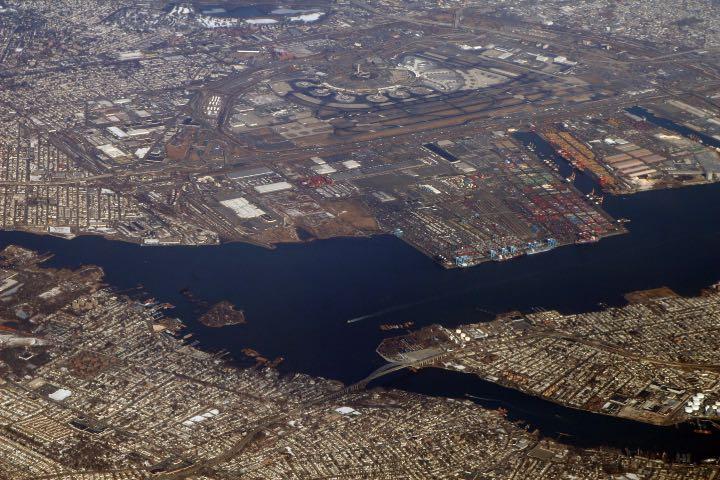 Vista aérea del Port Newark-Elizabeth Foto: Doc Searls