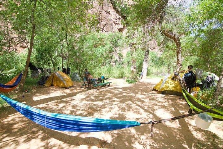Zona de camping en Havasu Falls Foto: jperoni