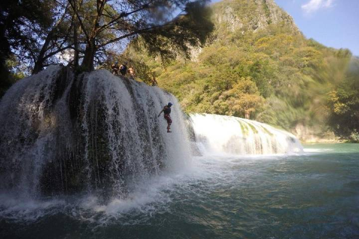 ¿No son preciosas las aguas de la Huasteca Potosina? Foto: Alondra Chaparro