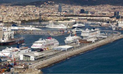 ¡La imponente vista aérea del Puerto de Barcelona! Foto: Cruise Mapper