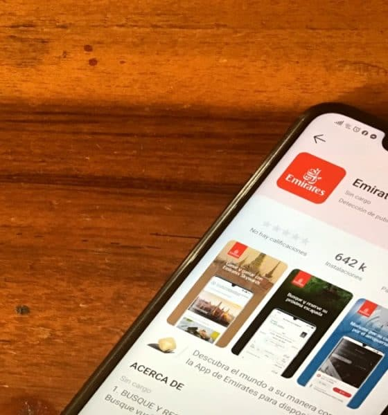 App móvil de Emirates y Huawei. Foto: Fernando Bautista
