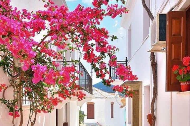 Balcones coloridos de Skopelos. la isla de Mamma Mía. Foto: skopelos_island