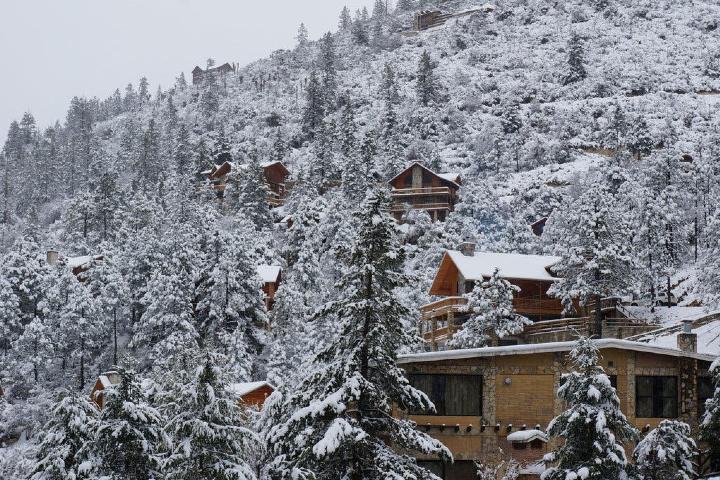 Cabañas con nieve Foto: Vanguardia