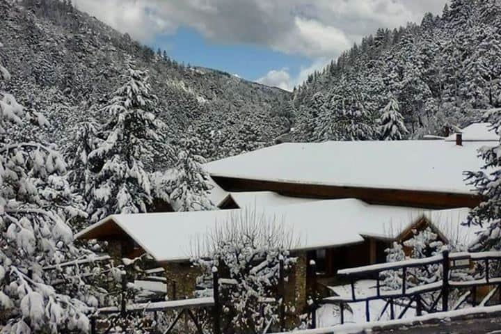 Cabañas nevadas Foto: Bosques de Monterreal