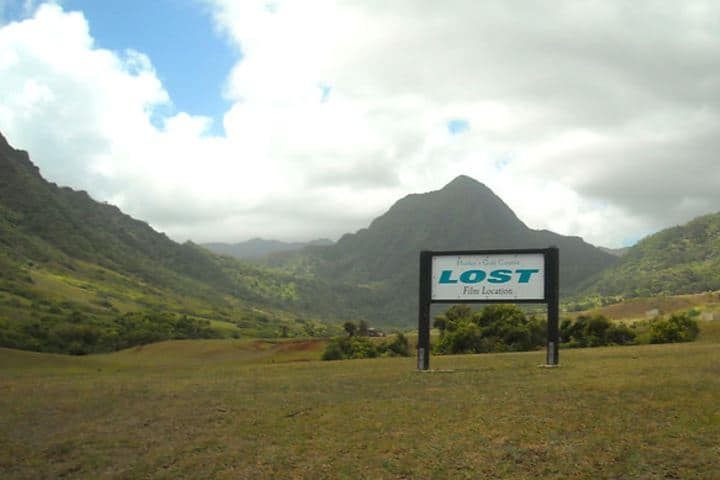 Cartel que indica que ahí se filmó la serie Lost. Foto: Daniel Ramírez