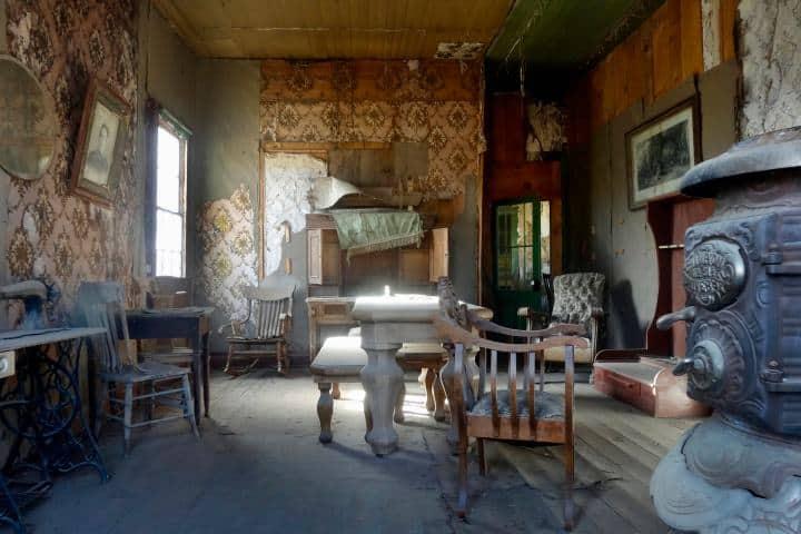 Casa abandonada en Bodie Foto: Bodie Foundation