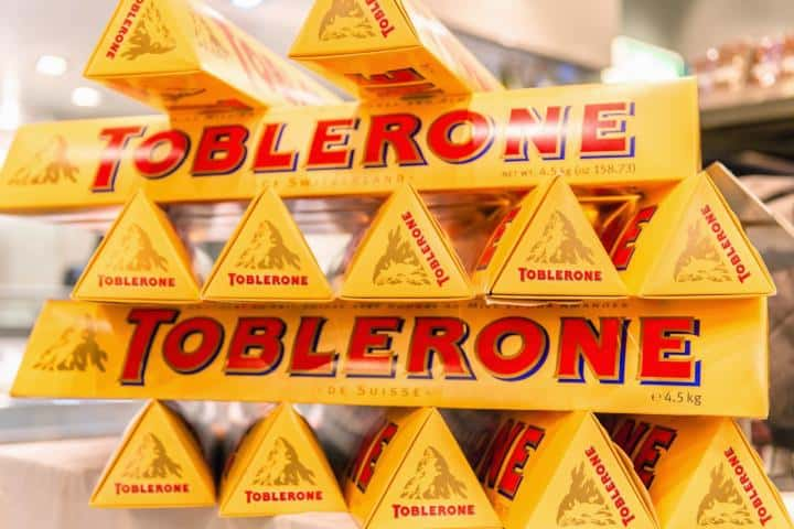 Chocolate Toblerone. Foto: Meridianos