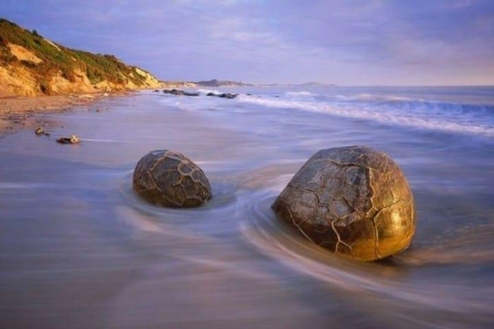 Crees que parezcan huevo de dinosaurios?, Una belleza de Playa Koekohe Foto: Coyotitos
