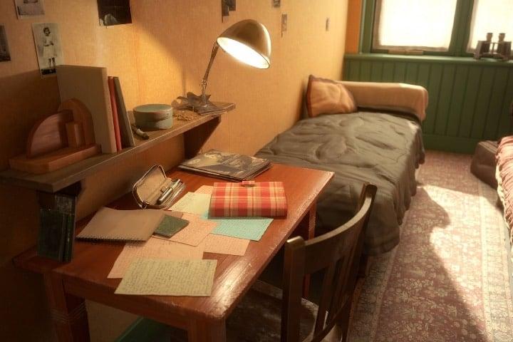 El padre de Ana Frank ayudó a replicar la casa. Foto: Archivo