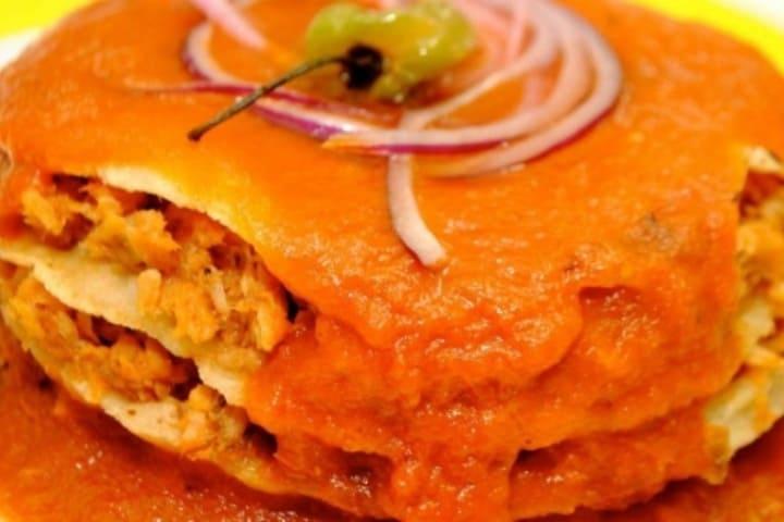 En mi viaje a Campeche probamos el pan de cazón y es ¡Una delicia! Foto: La Cocina Mexicana