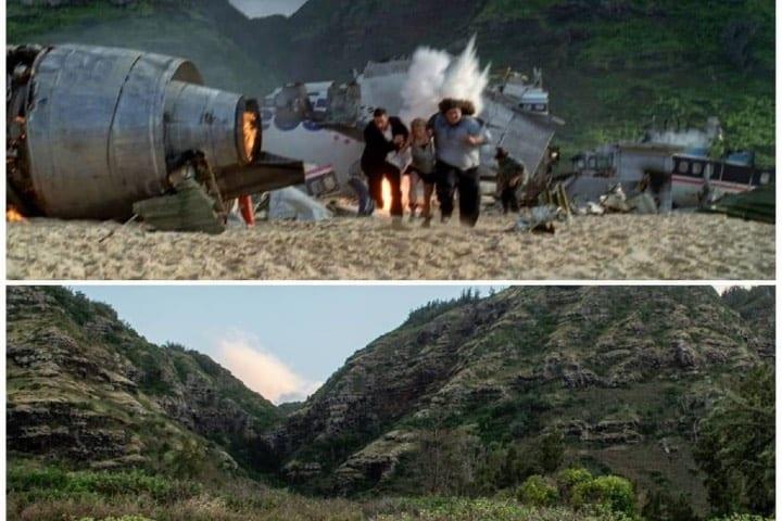 Escenario y realidad de la playa en la caída del avión Foto: hollywood_irl | Instagram
