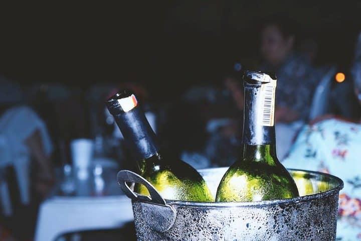 Fiesta de Vendimia Cuna de Tierra en Guanajuato. Botellas de vino. Imagen. Andrés Gómez
