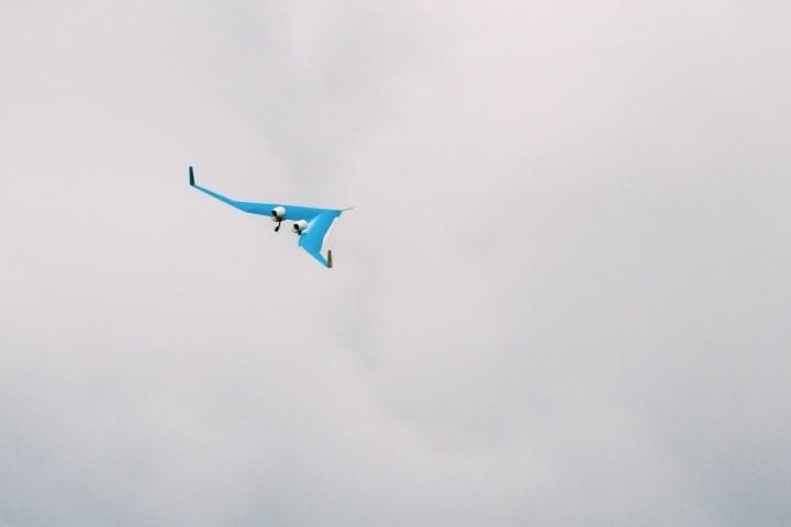 Flying-V realizando sus pruebas aéreas en su versión a escala. Foto: Archivo