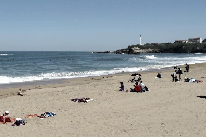 Foto en la playa. Foto: Caminantek