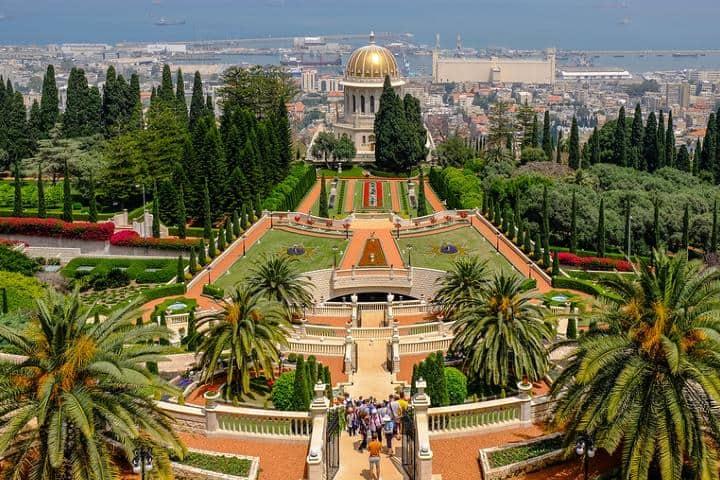 Jardín de Haifa. Foto: Archivo