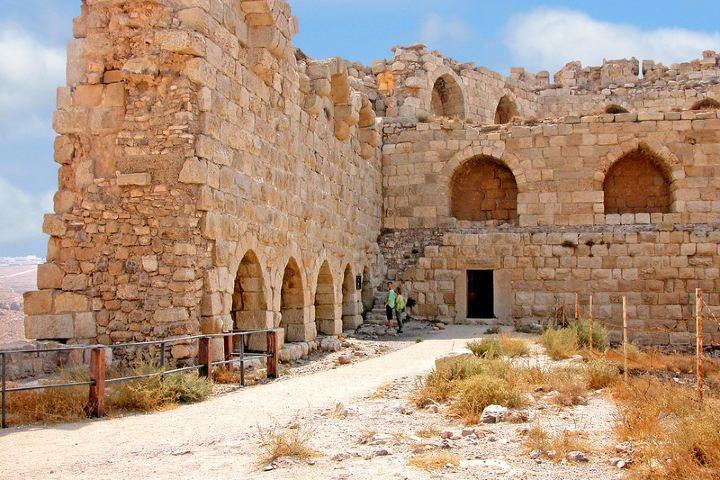 Impresionante grosor de las paredes del Castillo Karak. Foto: Dennis Jarvis