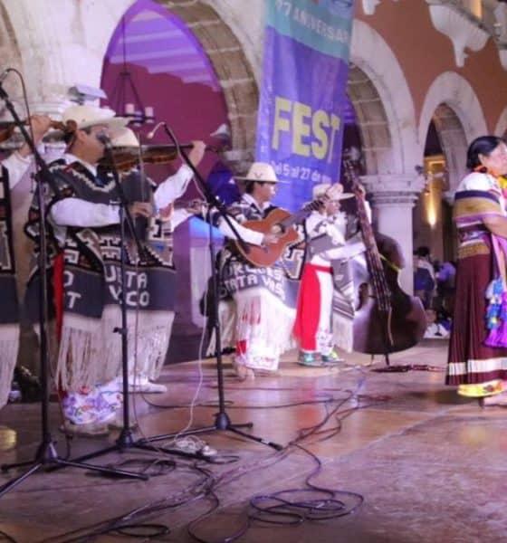 Interpretación de la Pirekua. Foto: Reporteros Hoy