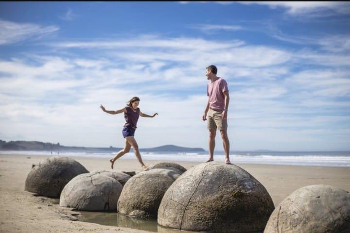 Juega en las piedras Gigantes Foto: Nueva Zelanda