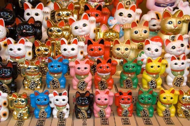 Maneki-Neko de colores Foto: Kodachy
