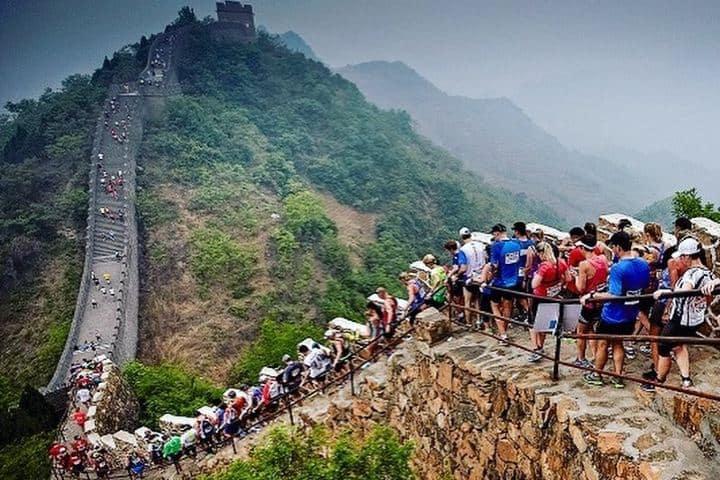 ¡Tantas personas en una sola foto! y es solamente una parte de la Muralla. Foto: patrycjajasinska.trener