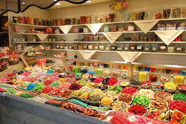 Mercado la Boqueria en Barcelona ¡Te dejará con la boca abierta!. Dulces. Imagen. Bernard Gagnon