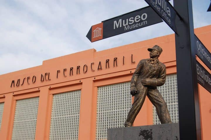 Museo de ferrocarril en San Luis Potosí. Museo. Imagen. Historia de Nacorazi de García
