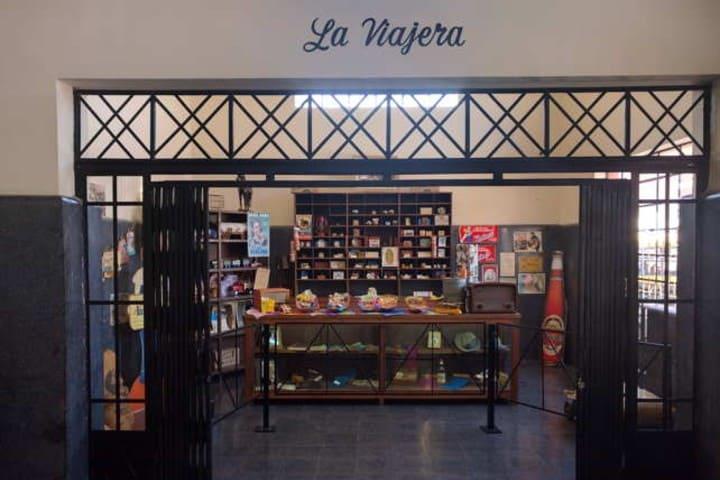 Museo de ferrocarril en San Luis Potosí. Tienda. Imagen. Archivo