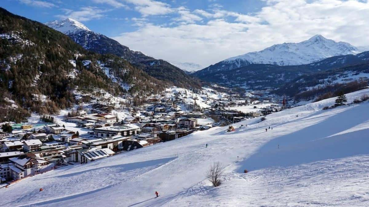 Paisaje Nevado Foto Archivo