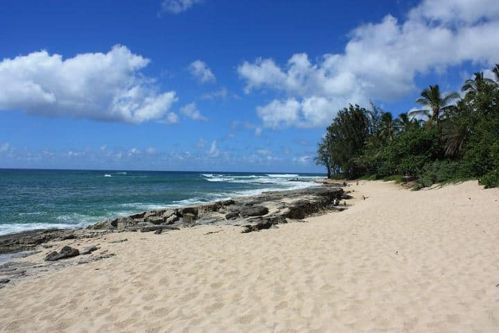 Papailoa Beach el lugar del campamento Foto: Ewen Roberts