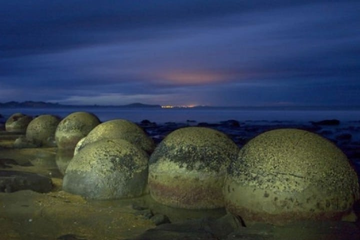 Una hermosa formación de calcio en Playa koekohe Foto: Coyotitos