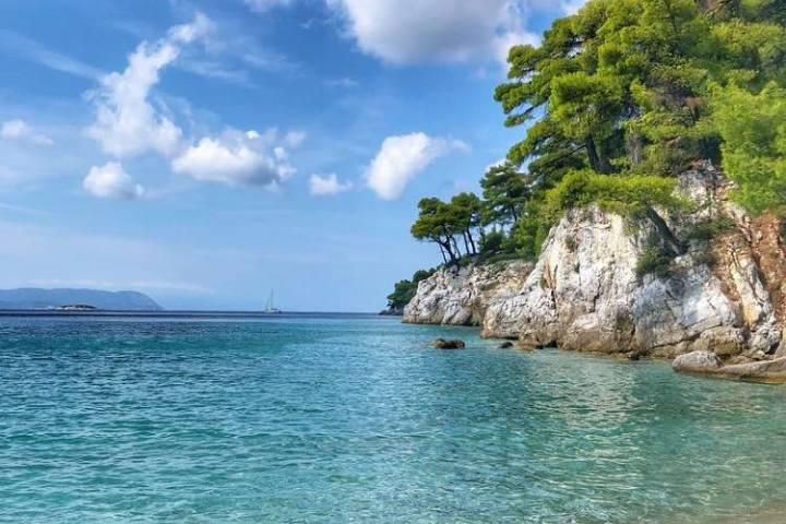 Playa Kastani en Skopelos. Foto: mic.lie