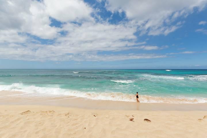 Playa Mokuleia, lugar de filmación de la famosa serie Lost. Foto: Daniel Ramirez
