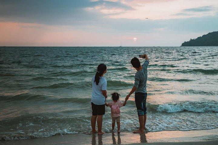 Playa en familia. Foto Peggy Marco