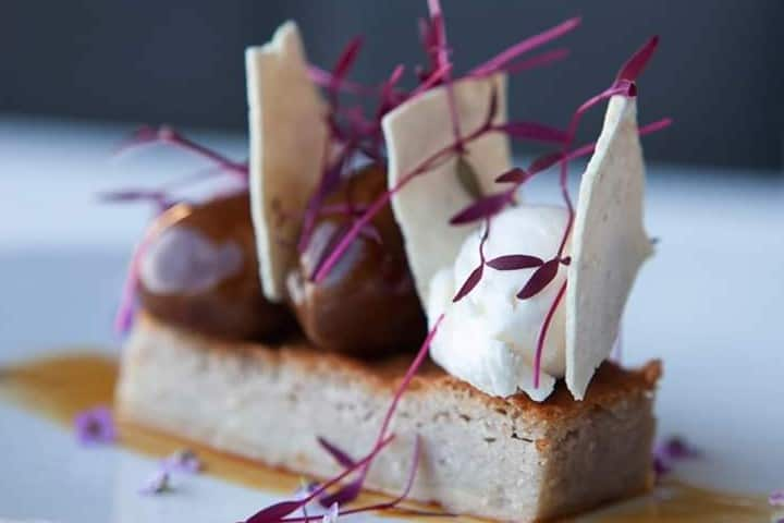 Un delicioso postre en el menú Foto: Azurmendi | Facebook