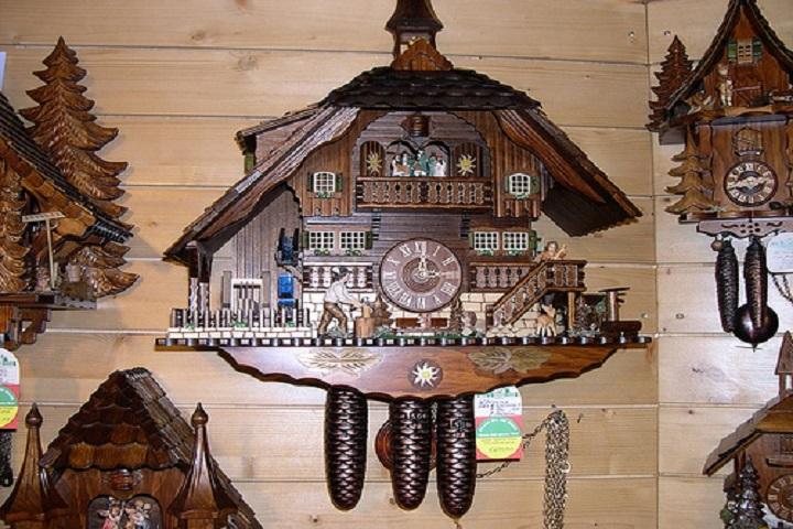 Este es uno de los relojes cucú alemanes. Foto: Alemania