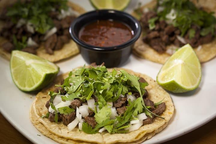 Tacos de asada. Foto: Cocina delirante