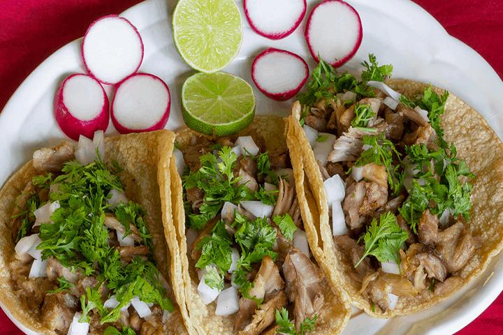 Tacos de carnitas. Foto: Cocina fácil