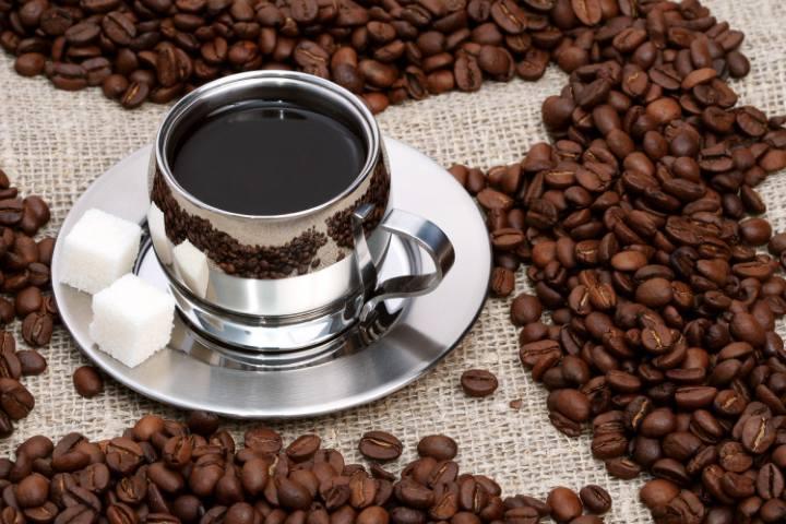 Taza de café y granos Foto Todo Chiapas