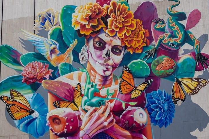 Tradicional Festival de Vida y Muerte de Xcaret. Catrina. Imagen. Alejandro Barba