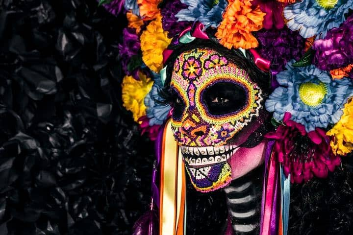 Tradicional Festival de Vida y Muerte de Xcaret. Catrina. Imagen. fer gomez