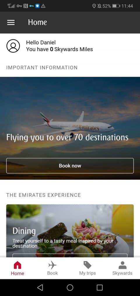 Usa la app móvil de Emirates y Huawei para buscar tu próximo destino de viaje. Foto: Emirates